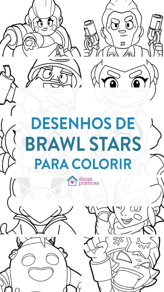 Desenhos de Brawl Stars para imprimir e colorir