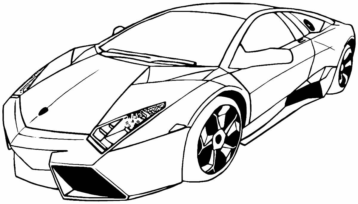 Desenho de Lamborghini para colorir