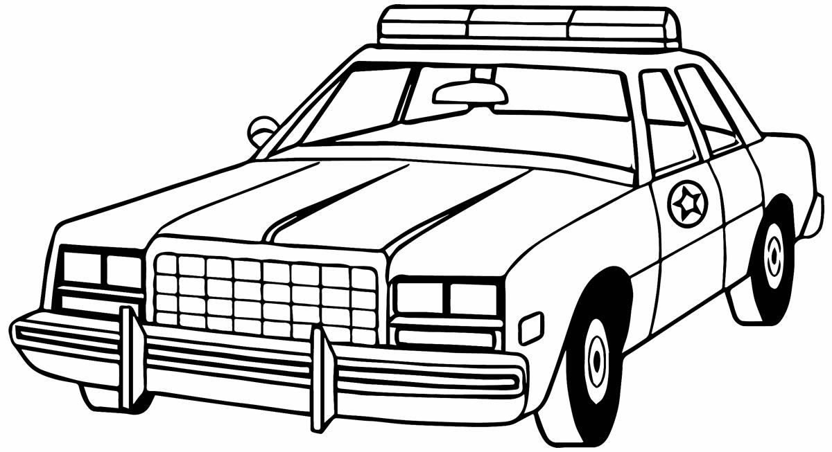 Desenho de carro de policia para colorir