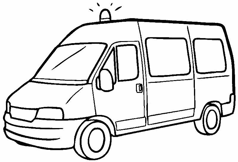 Desenho de ambulância para colorir