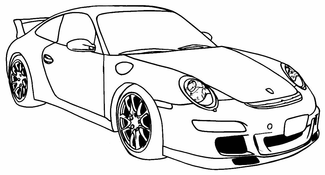 Desenho de carro para pintar