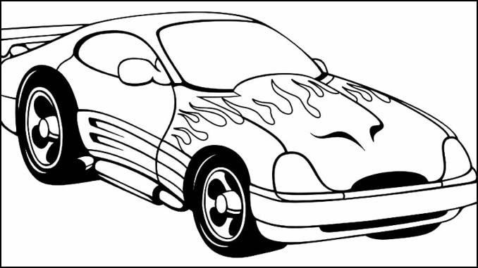 Desenhos de carros para colorir