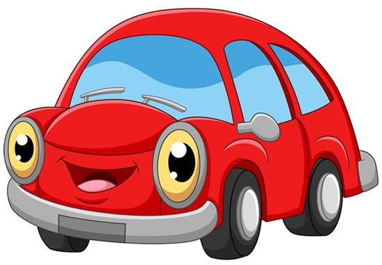 Molde colorido de carro