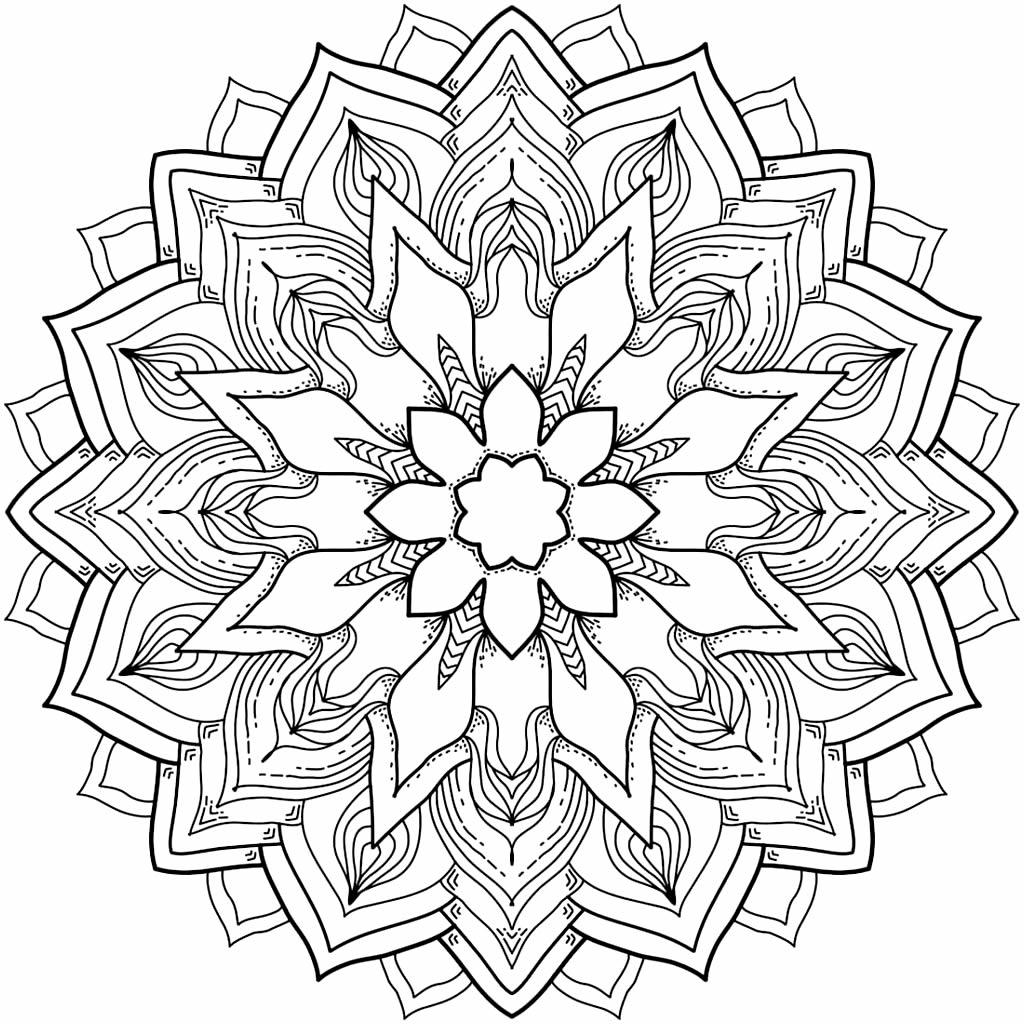 Molde de mandala para colorir