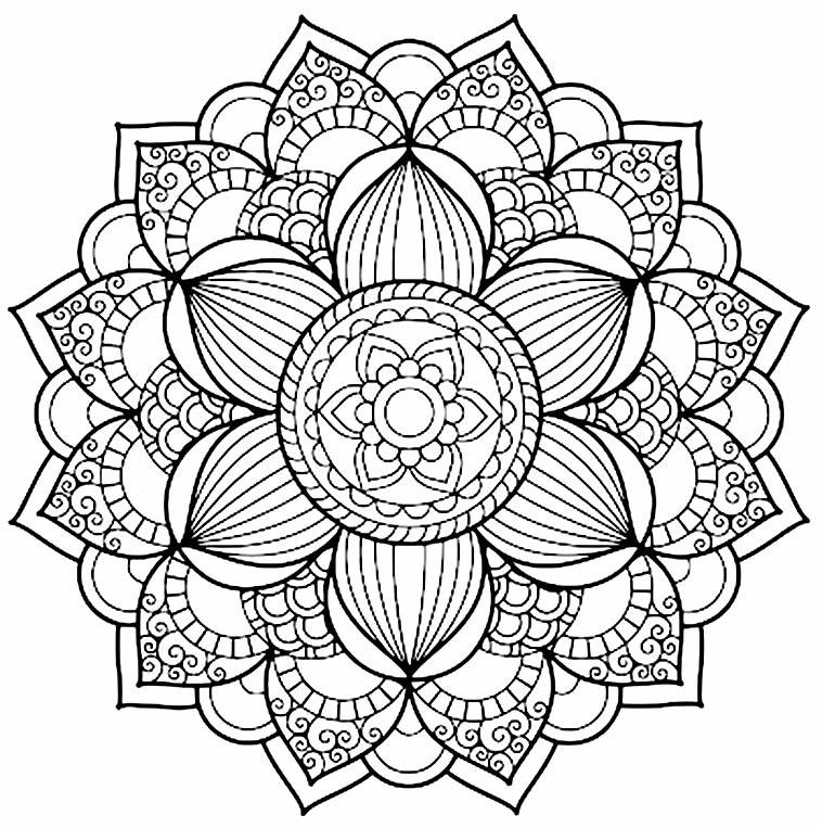 Molde de mandala para pintar