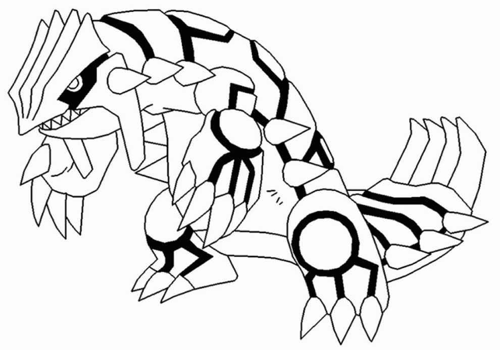 Desenho de Pokémon para imprimir e colorir