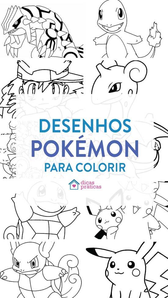 Desenhos de Pokémon para imprimir e colorir