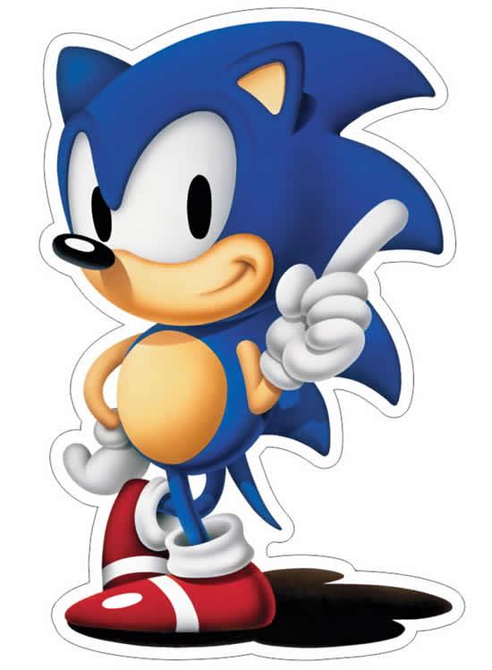 Desenho do Sonic colorido
