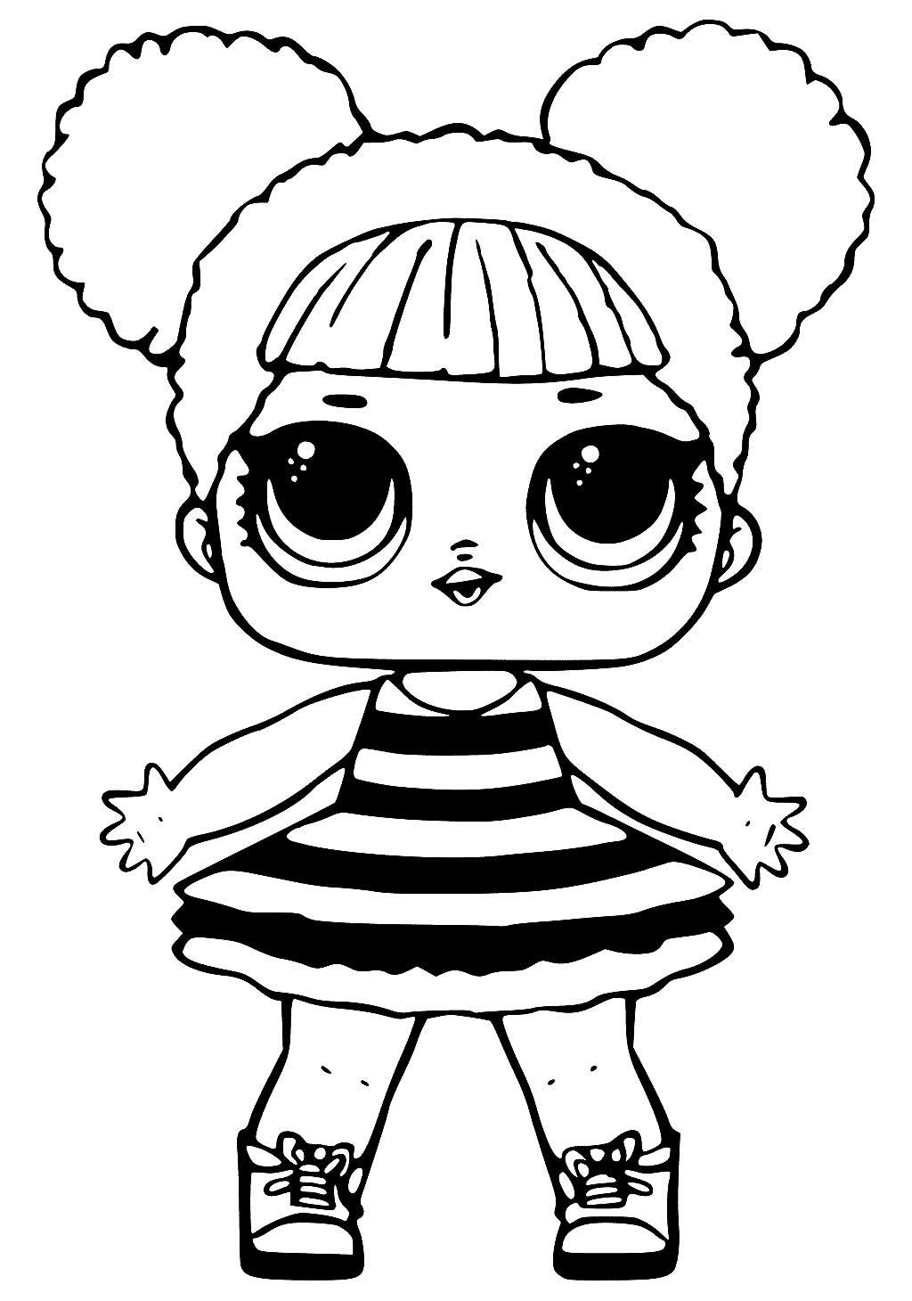 Imagem de Boneca LOL para colorir