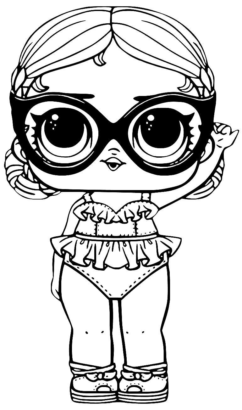 Desenho de Boneca LOL para pintar