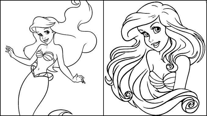 Desenhos Pequena Sereia