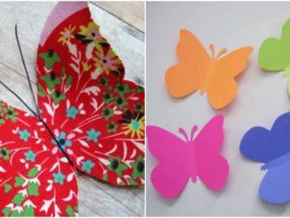 Molde de borboleta: 30 modelos lindos