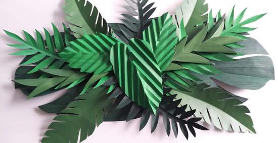 Enfeites com folhas de papel