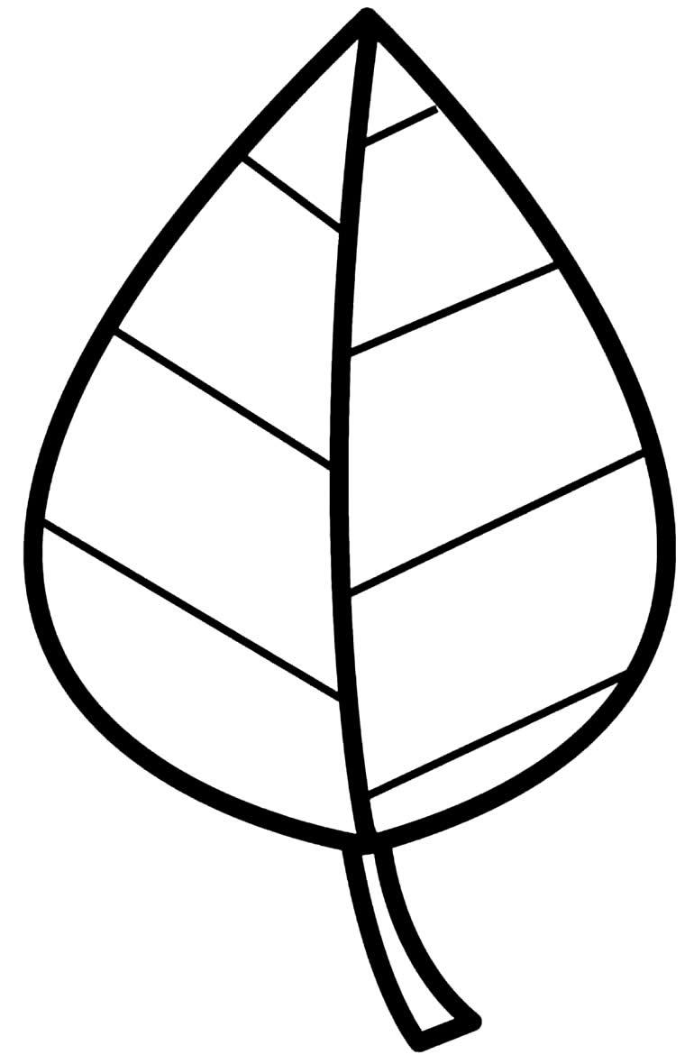 Molde de folha para imprimir