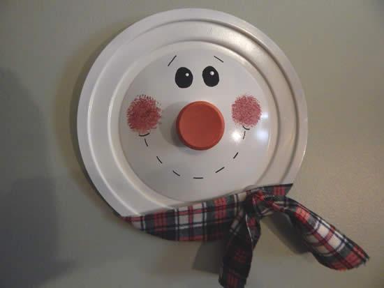 Artesanato de Natal com tampa de panela