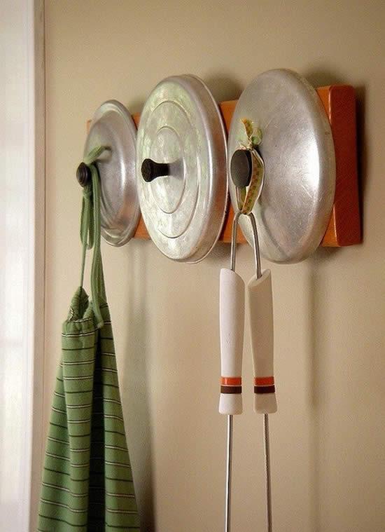 Acessório para a casa com tampas de panela
