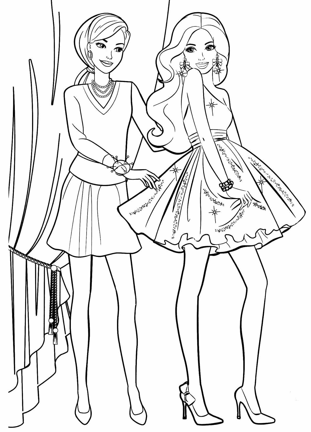Imagem da Barbie para colorir