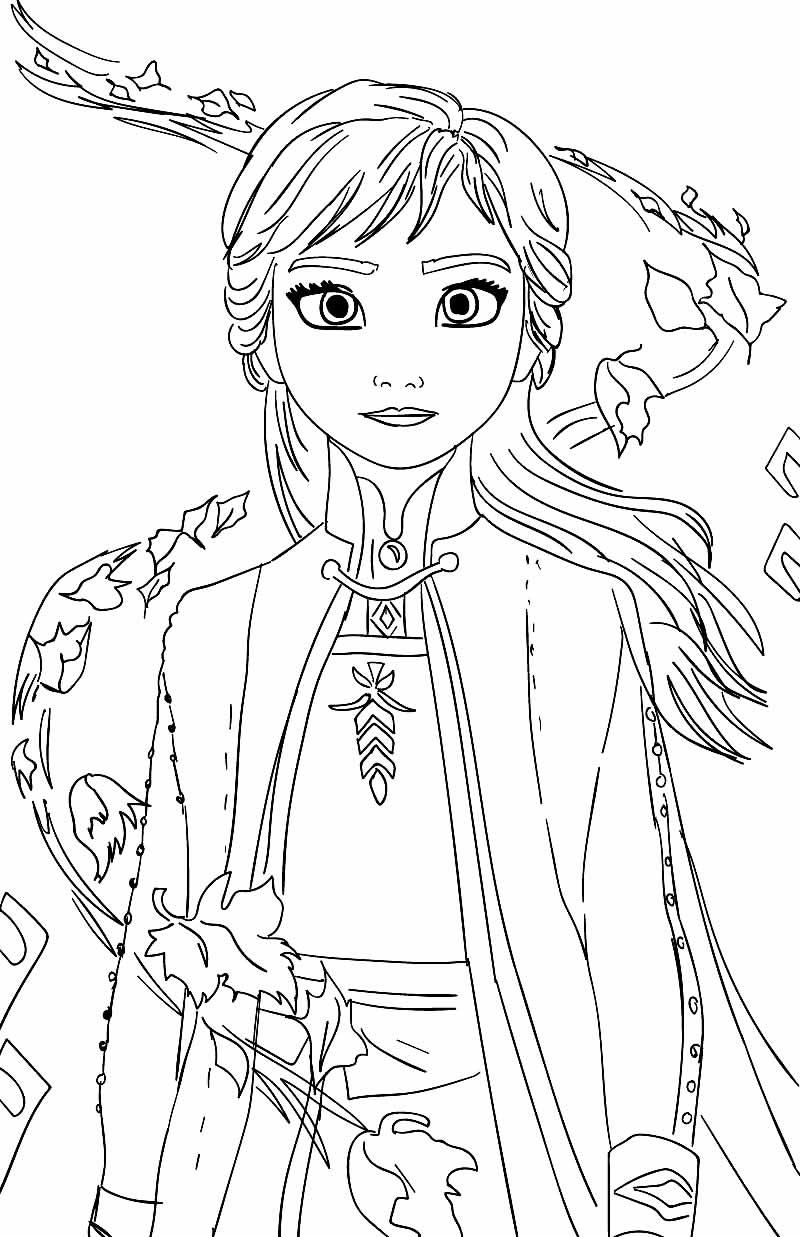 Desenho para colorir da Frozen