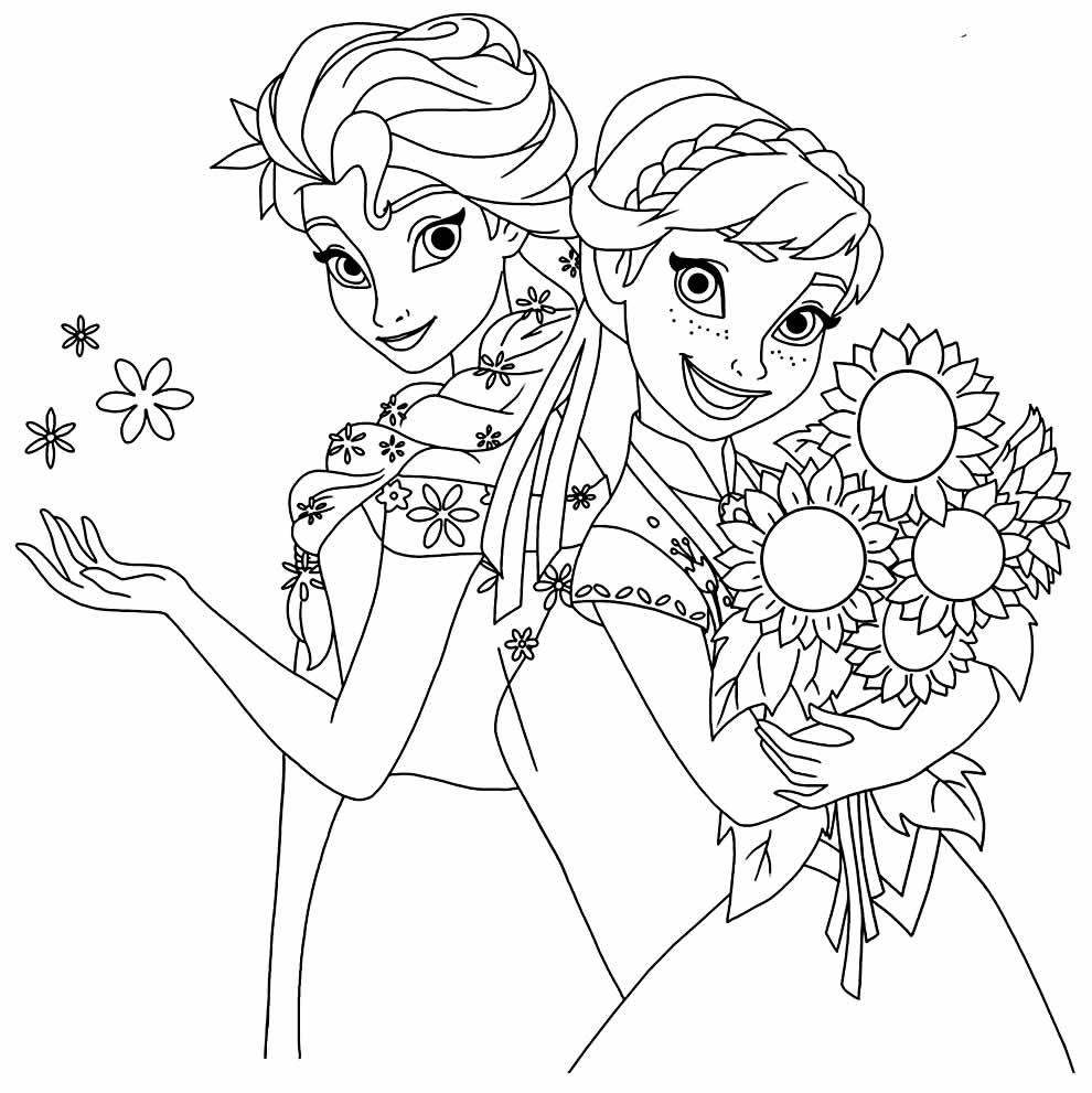 Desenho para pintar da Frozen