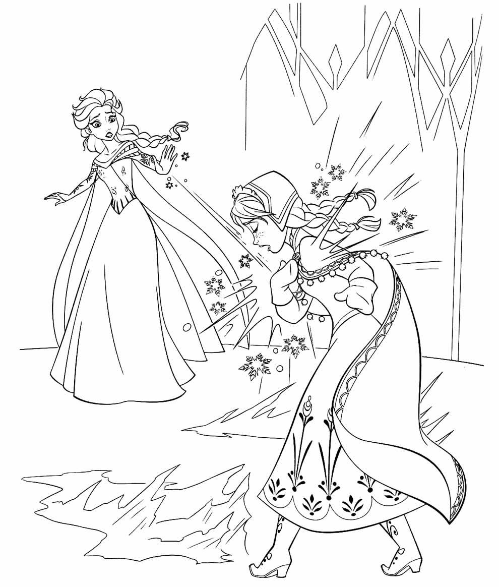 Desenho da Frozen para imprimir e colorir