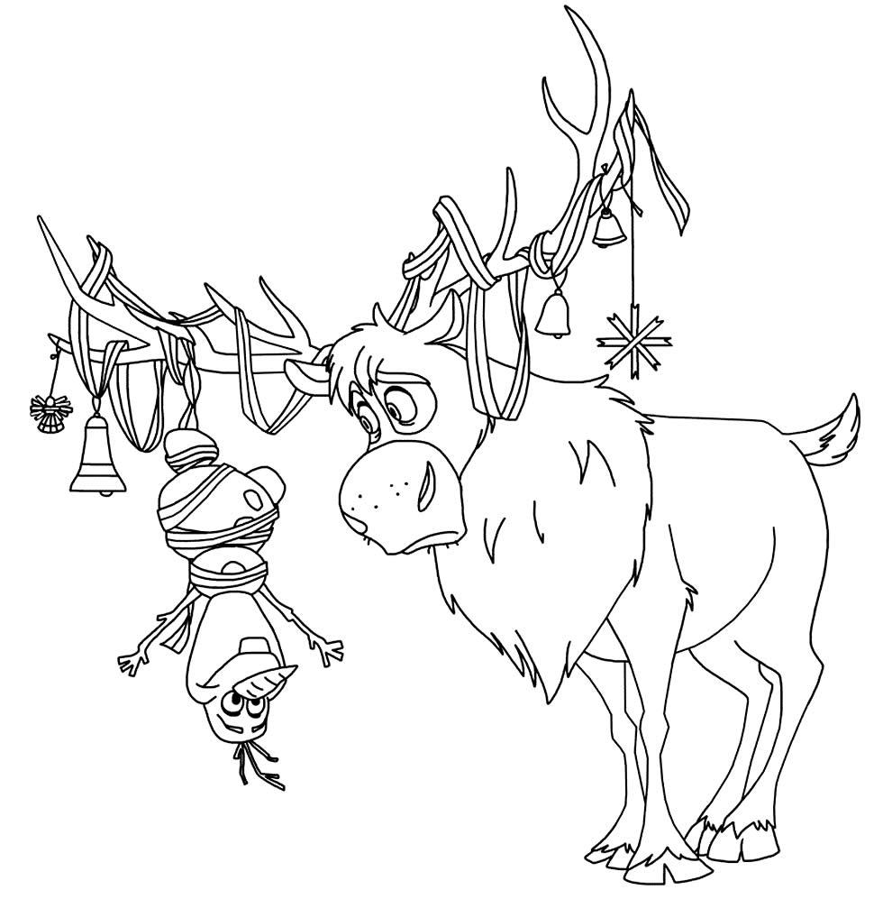 Desenho de Sven para colorir
