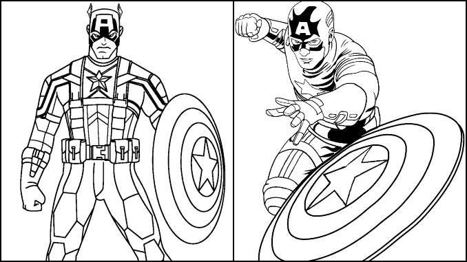 Desenhos para colorir de Capitão América