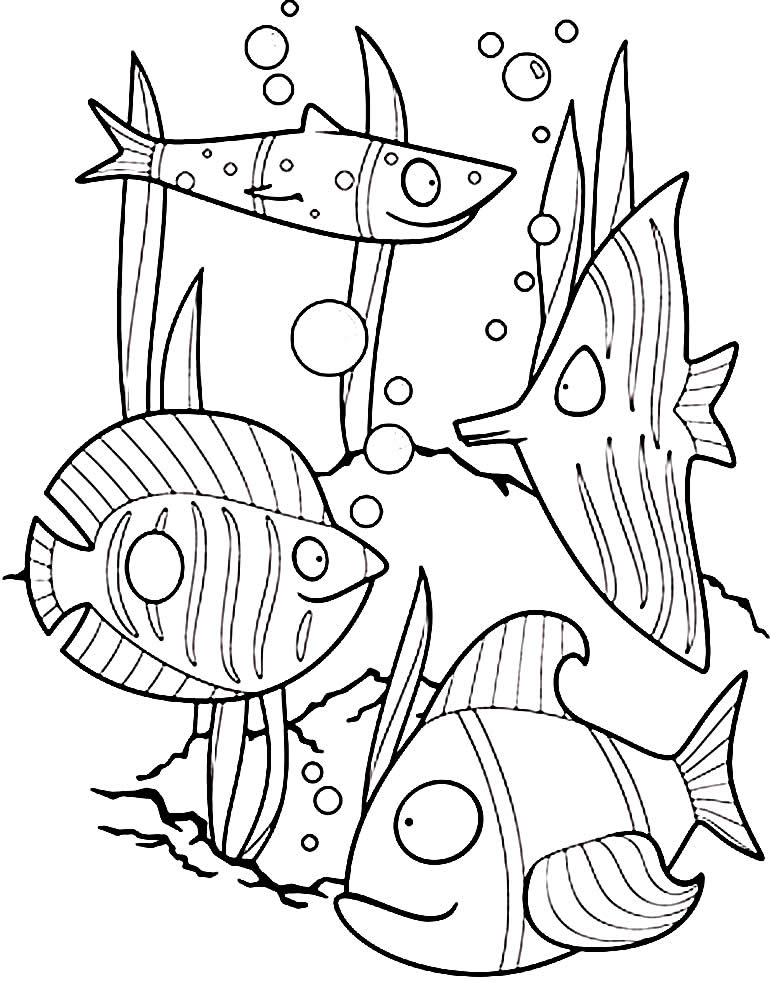 Desenho de peixinhos para colorir