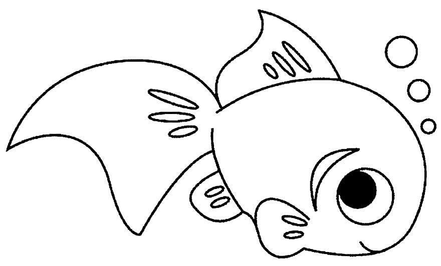 Imagem de peixes para pintar