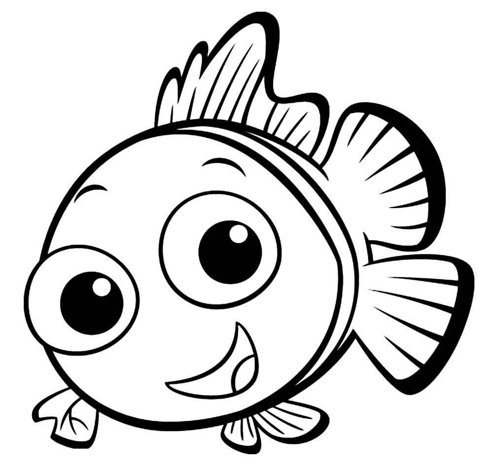 Desenho do Nemo para colorir