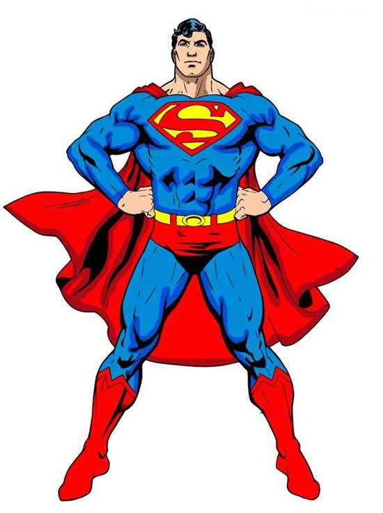 Desenho de Super Homem