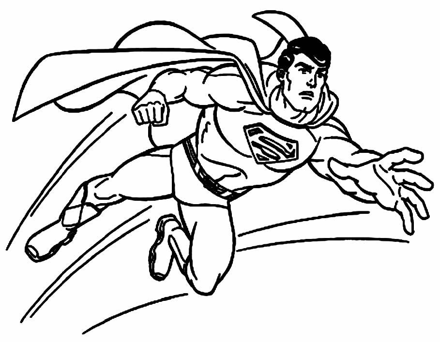 Molde do Super Homem para colorir