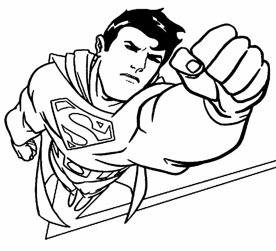 Imagem do Super Homem para colorir