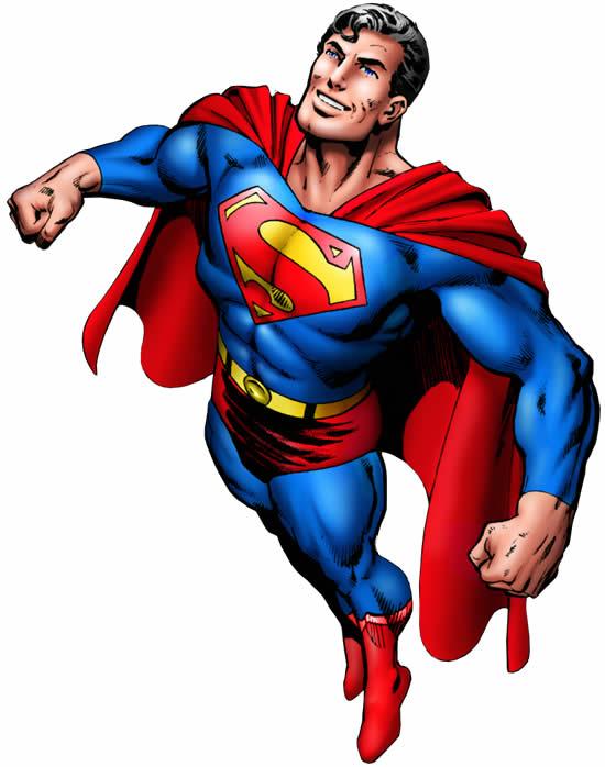 Molde Colorido do Super Homem