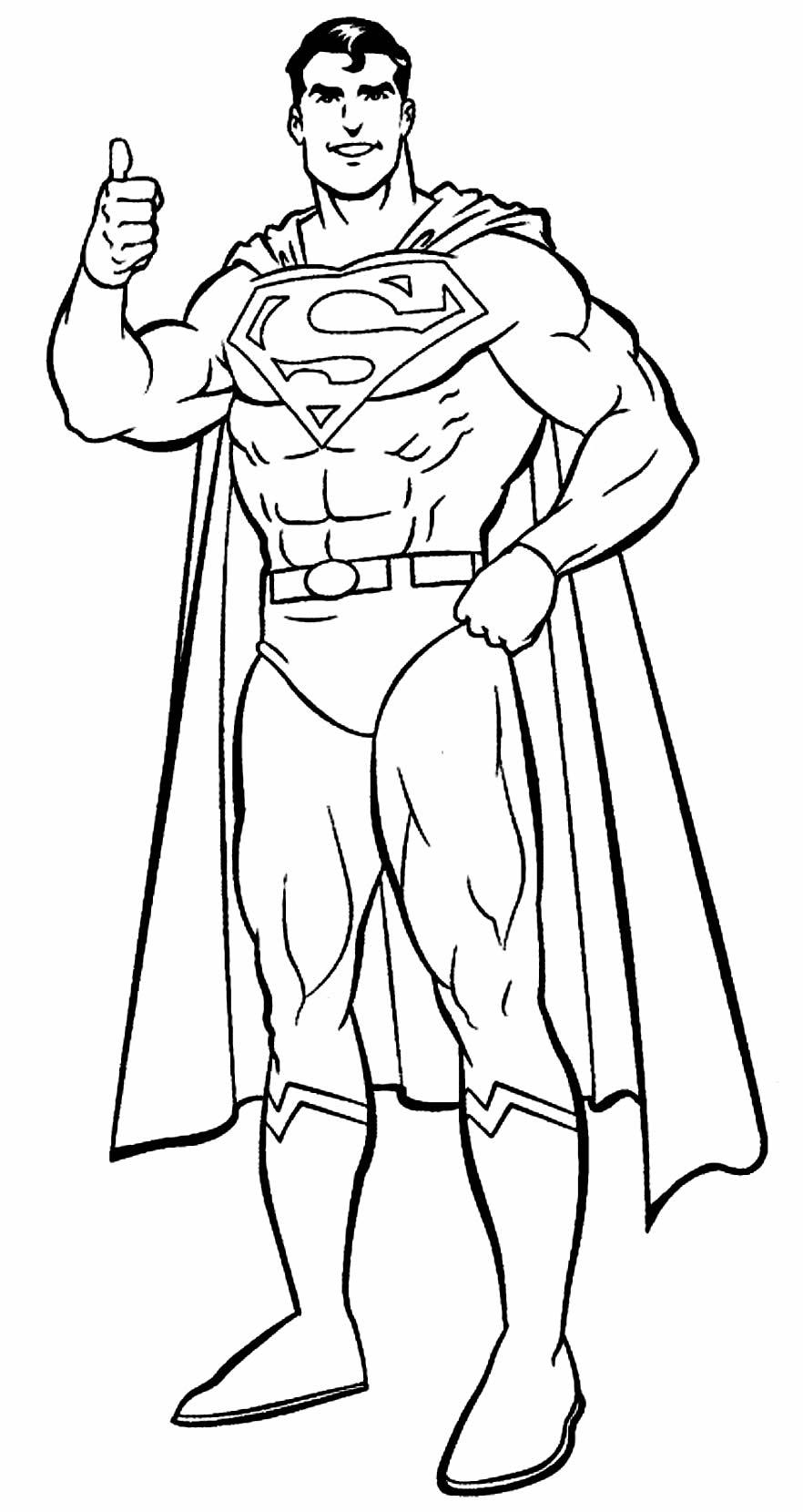 Desenho de Super Homem para colorir
