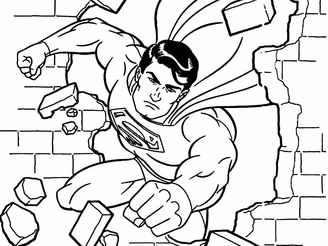 Desenho de Super Homem para pintar
