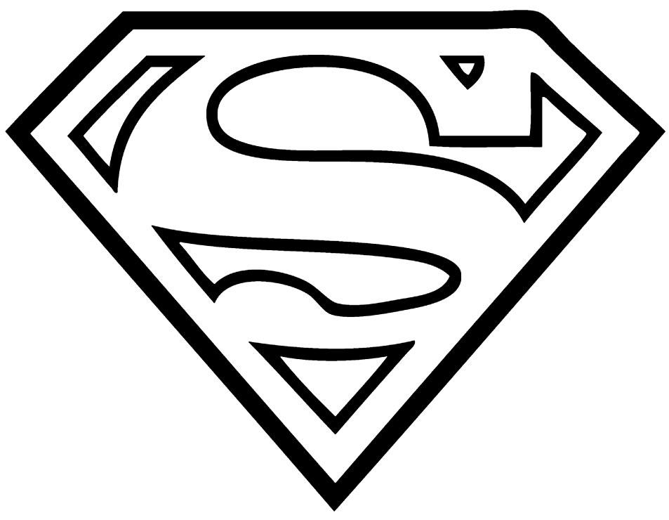 Desenho para colorir do Super-Homem