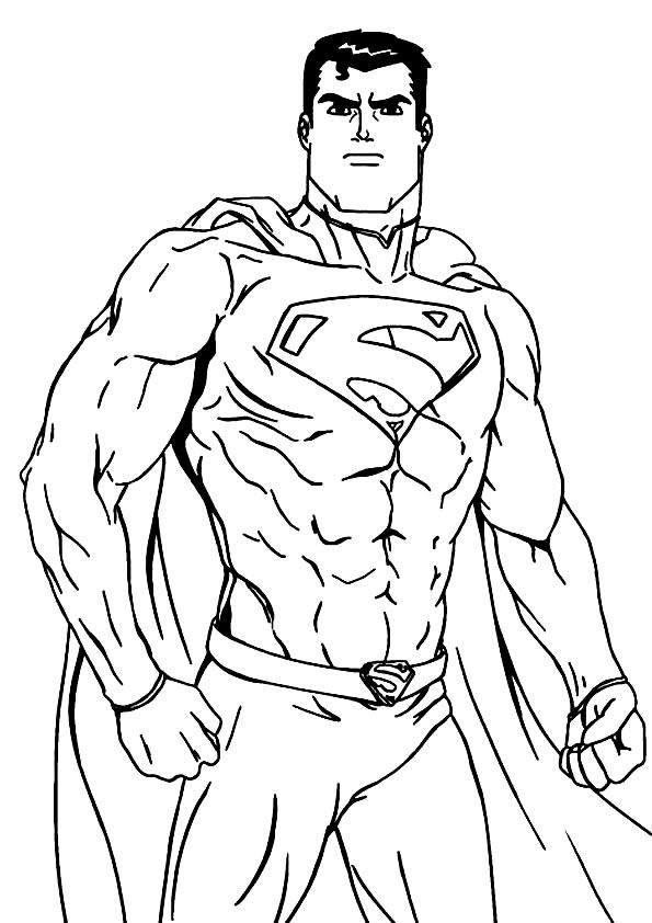 Imagem do Super-Homem para colorir