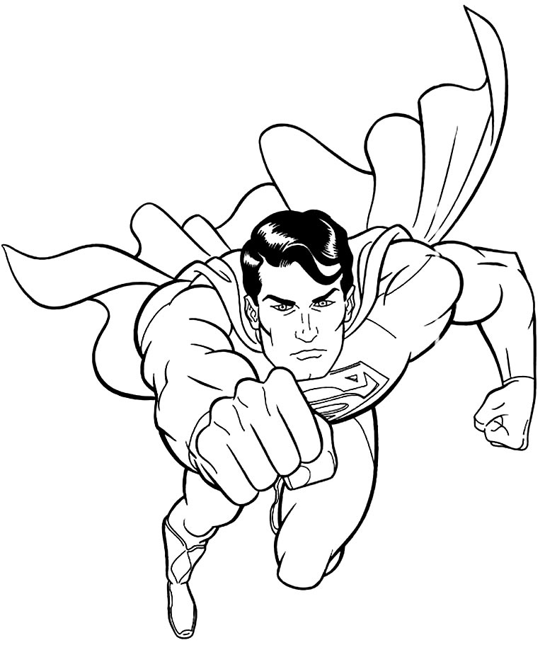 Desenho do Super-Homem para pintar