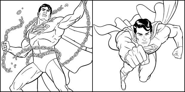 Desenhos do Super-Homem para colorir