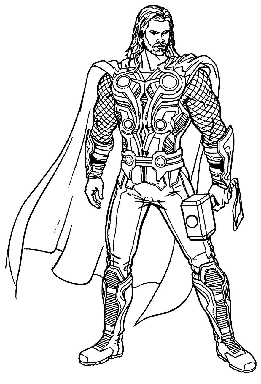 Imagem de Thor para pintar