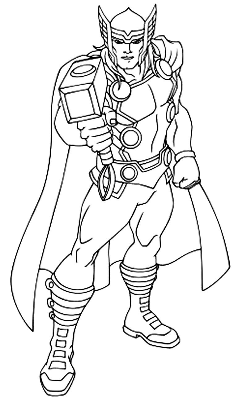 Desenho de Thor para pintar