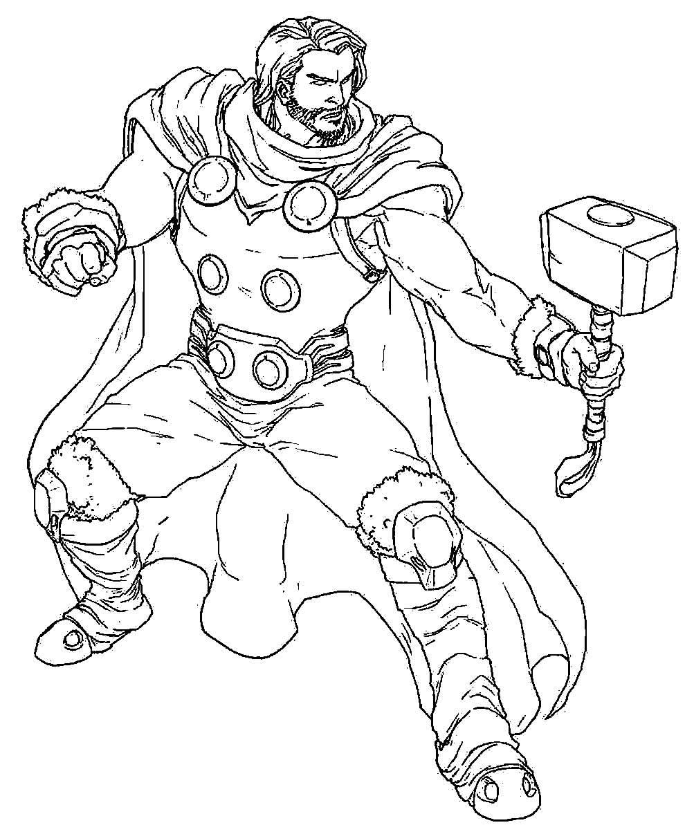 Imagem de Thor para colorir