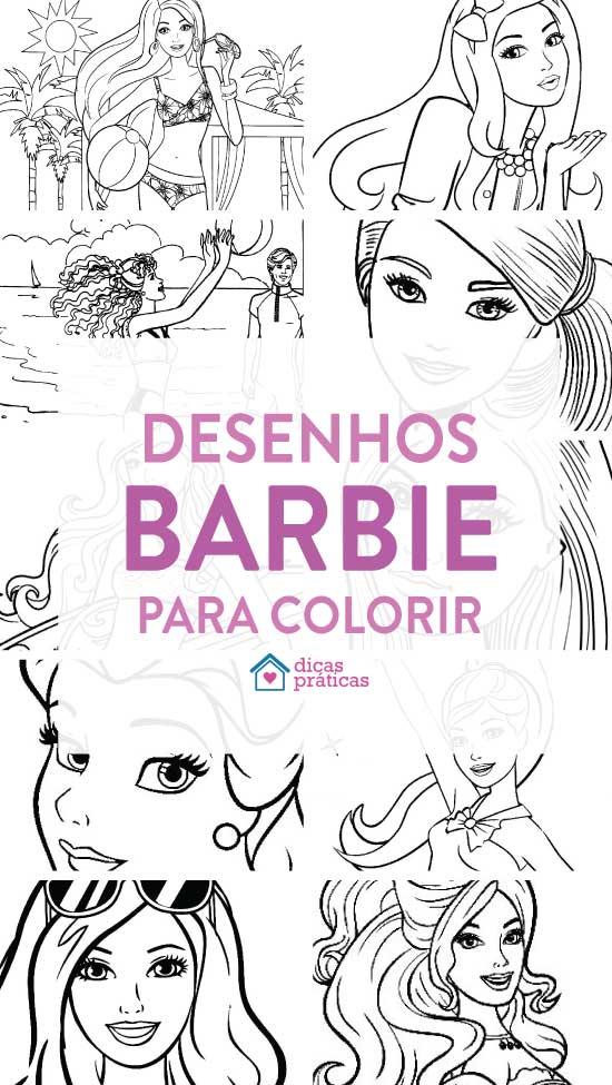 Desenhos para colorir da Barbie