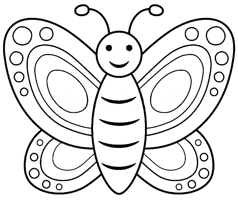 Imagens de borboleta para pintar
