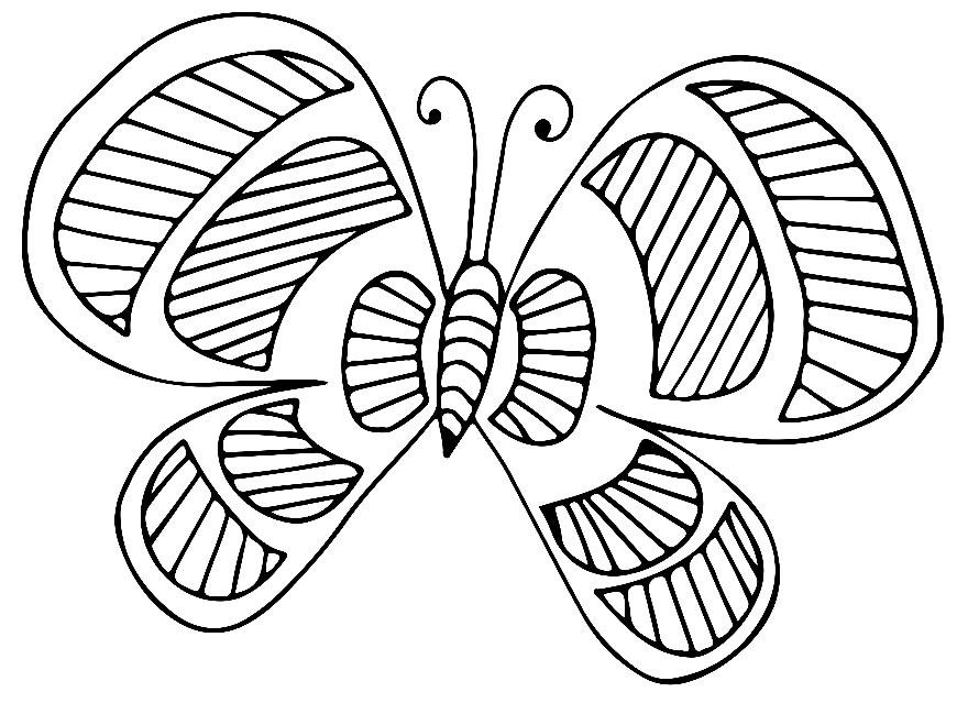 Desenhos de borboleta para pintar