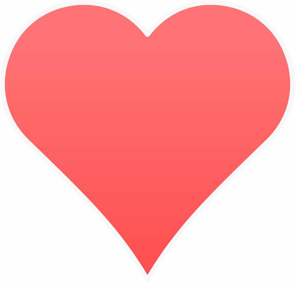 Coração vermelho para imprimir