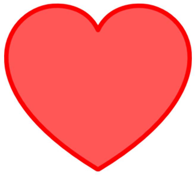 Molde vermelho de coração