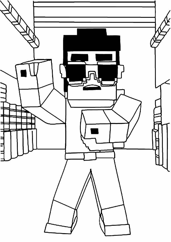 Imagem para pintar de Minecraft