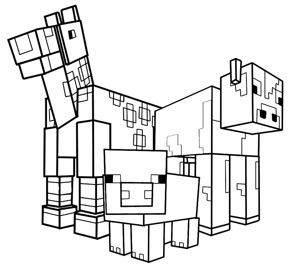 Imagem para colorir de Minecraft
