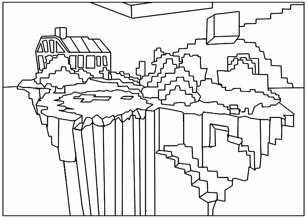 Molde para colorir de Minecraft